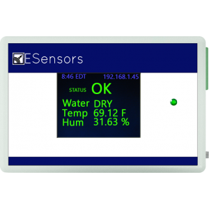 Water leak sensor with email text alerts